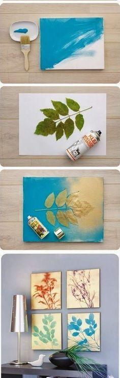 27 The Cheapest \ Easiest Tutorials To Make Astonishing DIY Wall Art - ideas creativas y manualidades