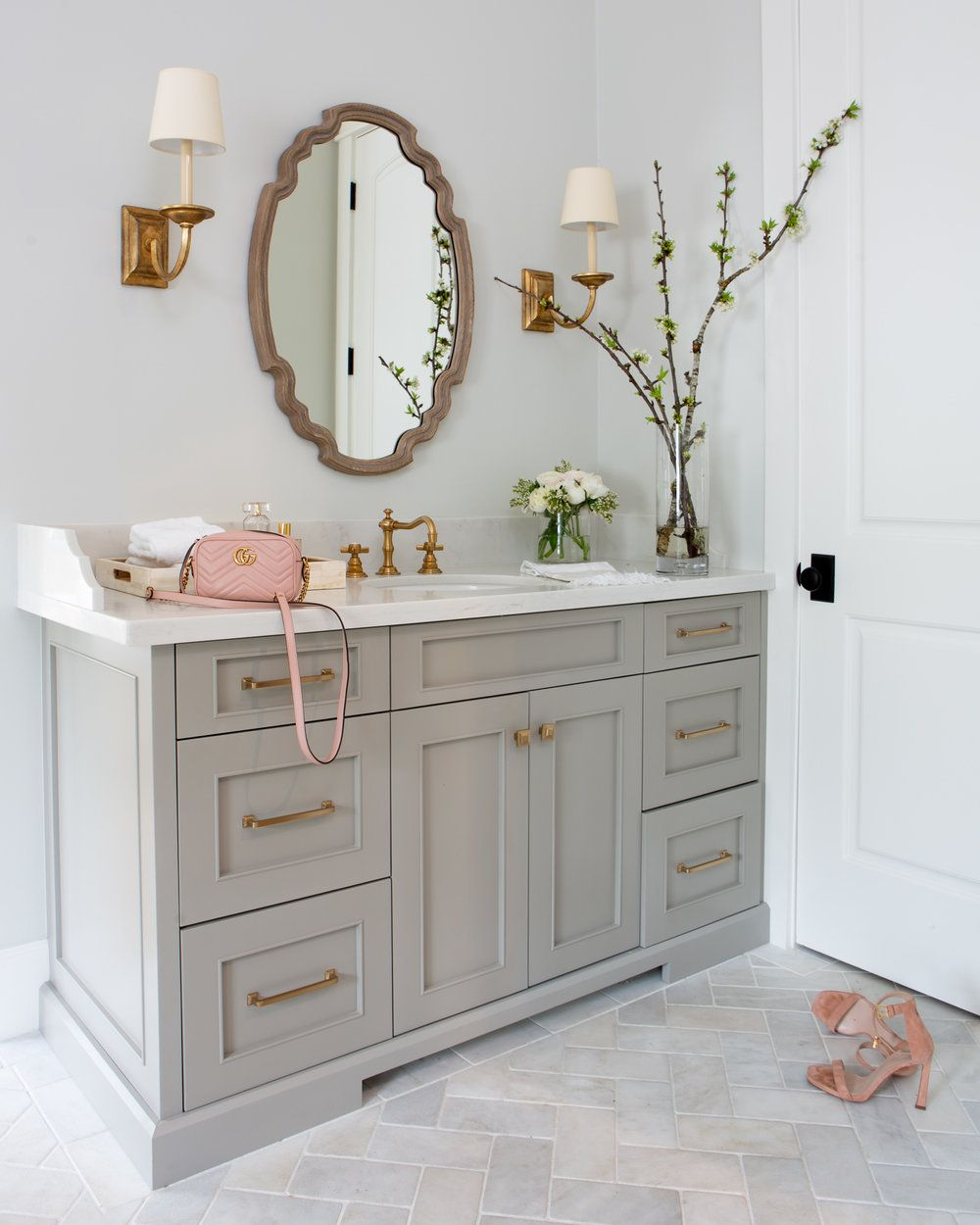 Room of the Week: Classic Master Bathroom with a Hint of Drama