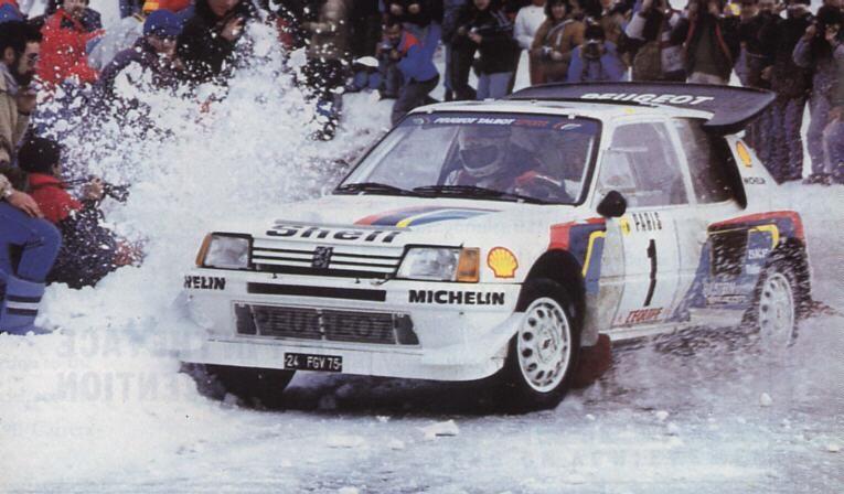 ra timo salonen seppo harjanne 54 rally monte carlo 1986 peugeot 205 turbo 16 e2. Black Bedroom Furniture Sets. Home Design Ideas