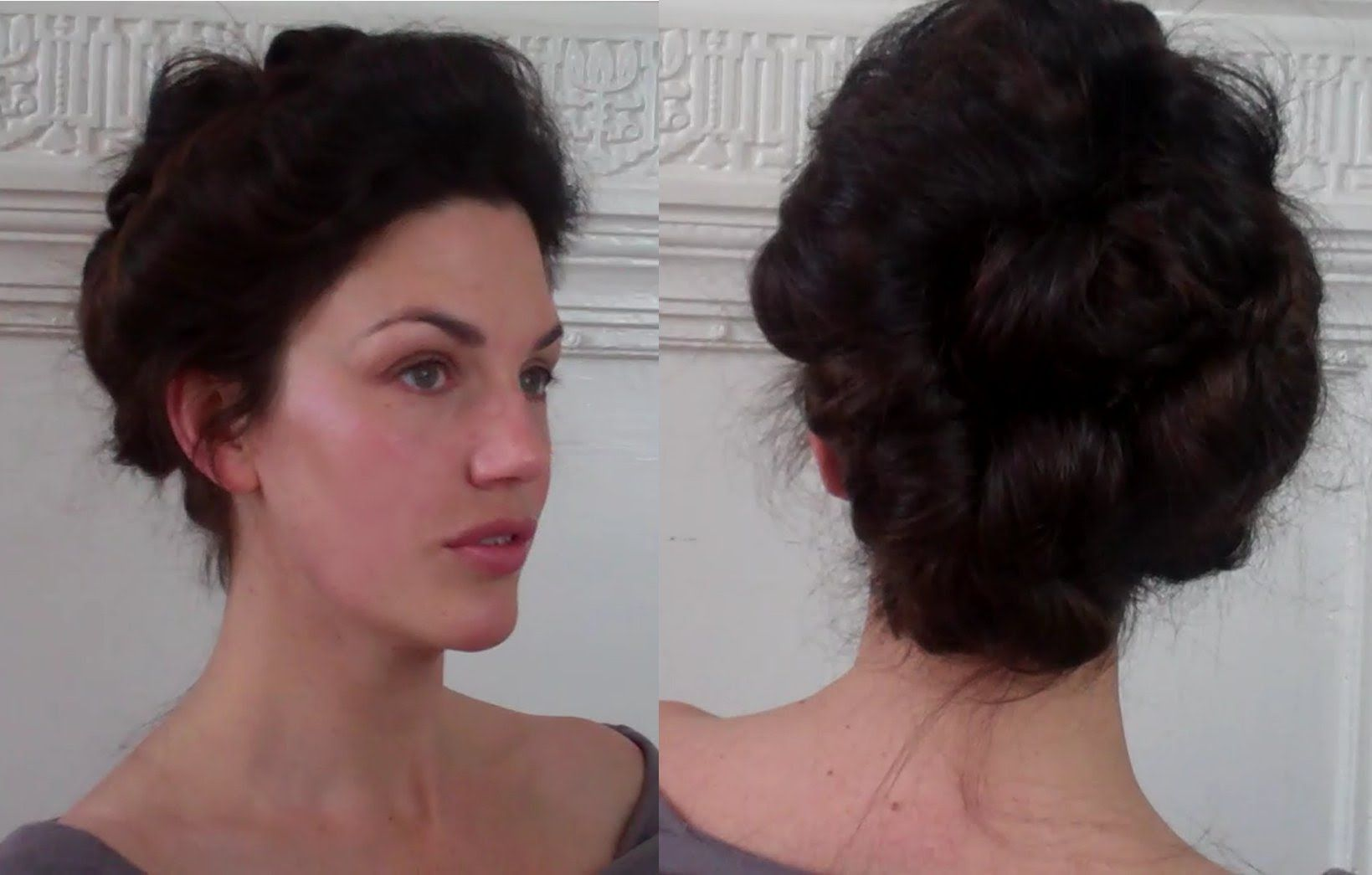 Pompadour Puffs An Edwardian Updo Tutorial Meduim Long Hairstyle