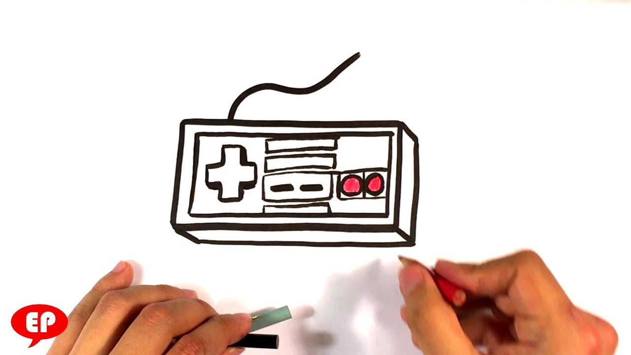 How To Draw A Nintendo Controller Cartoon Easy Pictures To