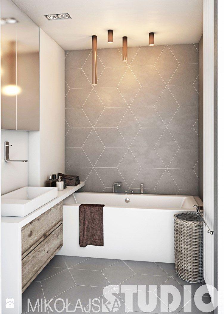Leuke tegel, kleur ook. Maar ook geschikt voor in grotere badkamer ...