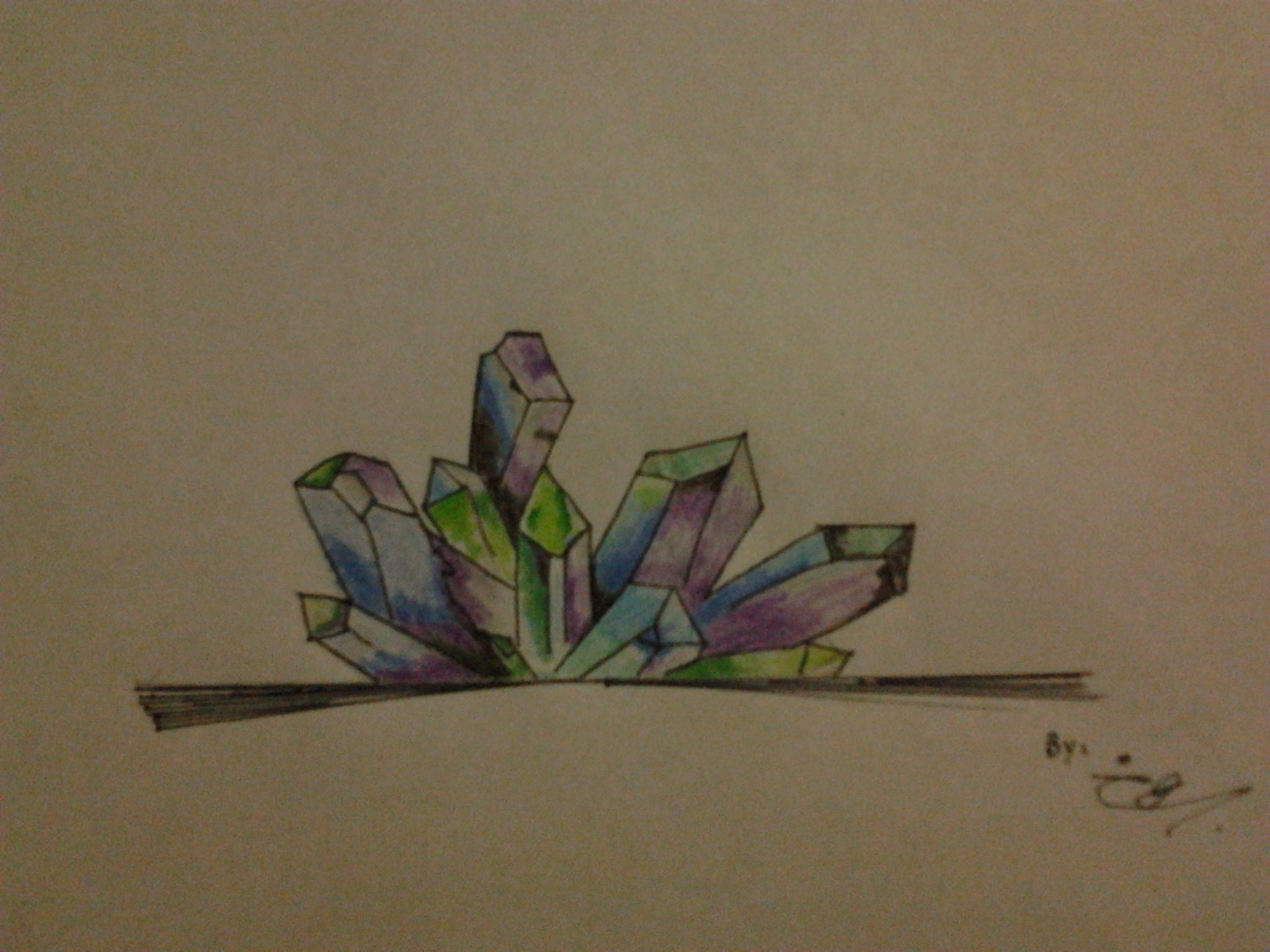 Un poco de Cristales coloridos