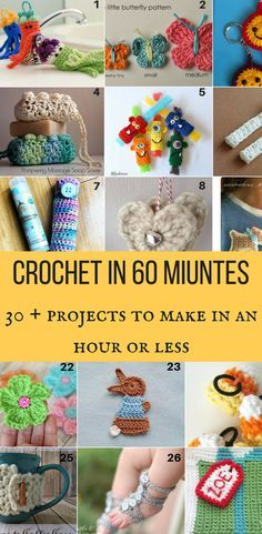 Crochet in 60 miuntes- 30+ Projects to make in an hour or less images