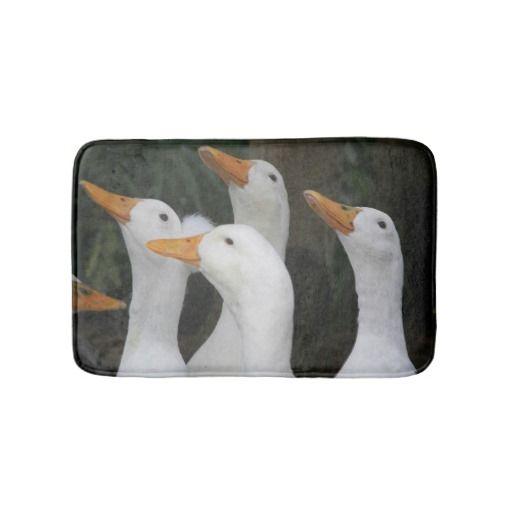 White Ducks Bath Mats