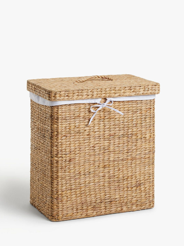 John Lewis & Partners Water Hyacinth Double Laundry Basket