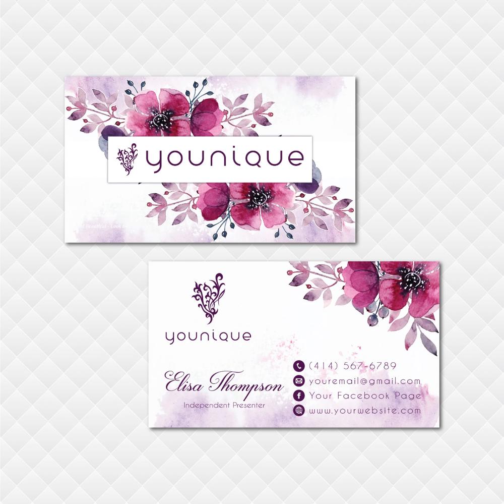 Younique Business Card Personalized Younique Business Card Yq12 Younique Business Cards Younique Business Younique