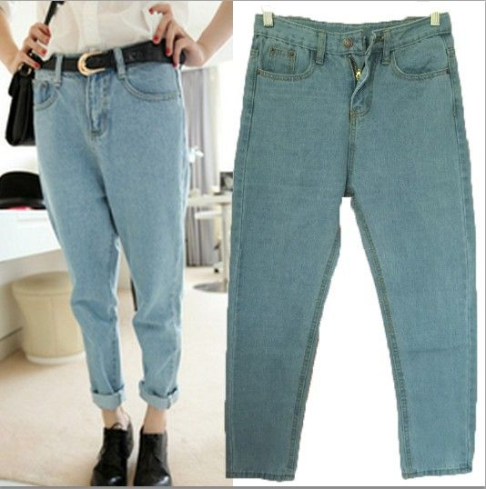 Jeans Womens New 2016 Loose Denim Pants BF Style Plus Size ...