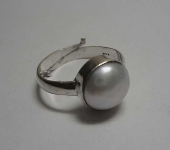Sterling Silver Pearl Rings Men Silver Pearl Rings