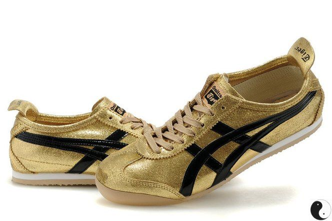 d62965c06fa Discounted Fashion Asics Onitsuka Tiger Mexico 66 Womens Shoes Gold Black