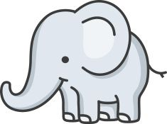 Baby Elephant Cartoon Vector Art Illustration Elefanti