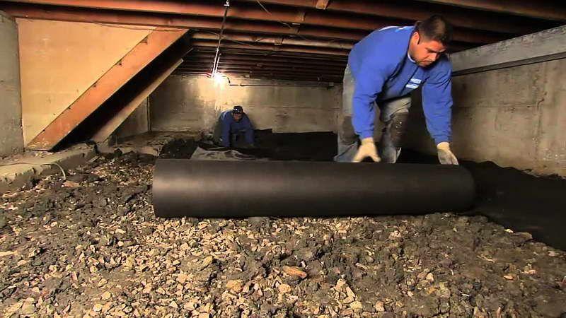 insulate a crawl space with black mattress Crawlspace