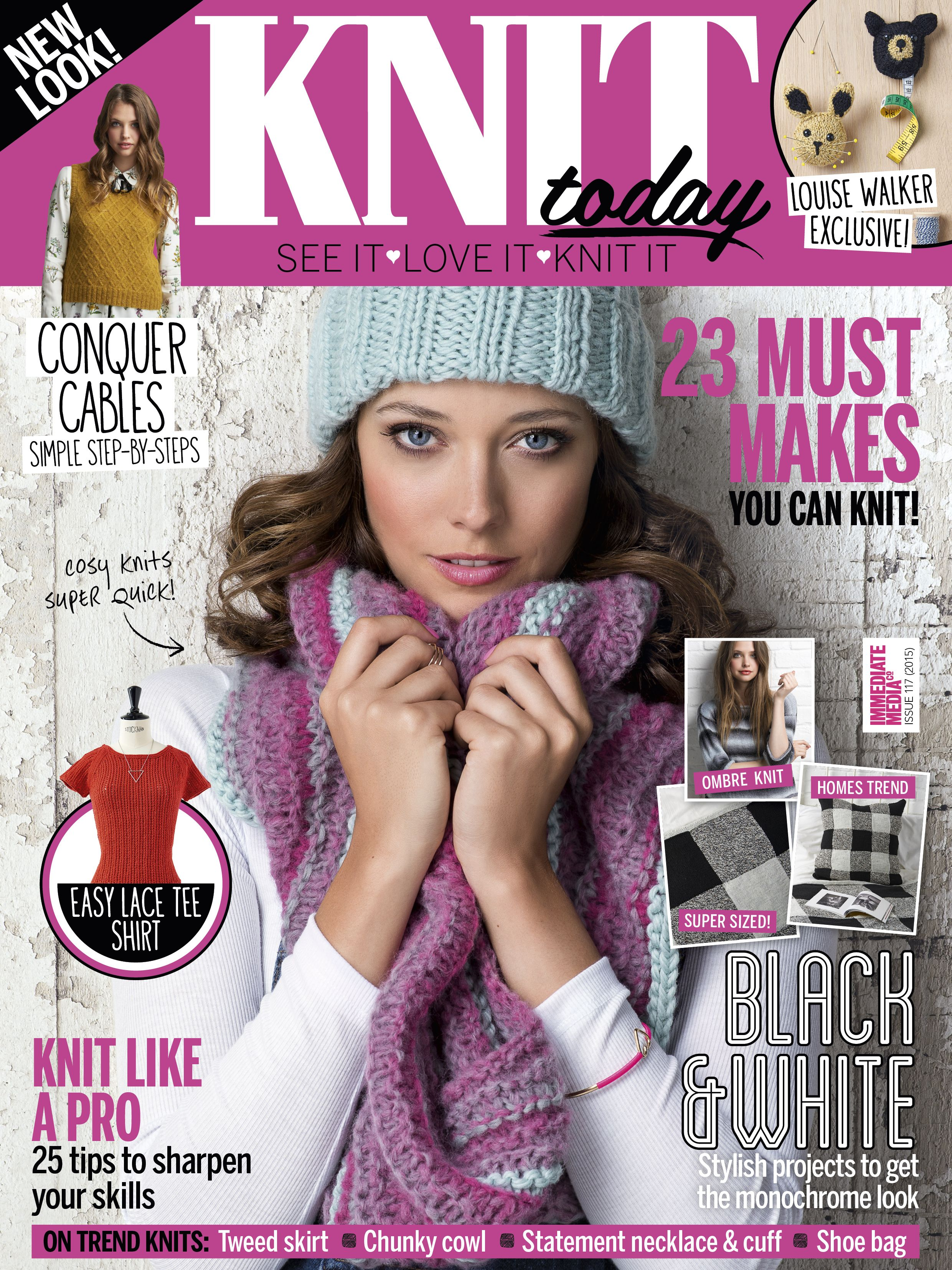 Enjoy The Brand New Look Knit Today Magazine Aimed At Beginners And