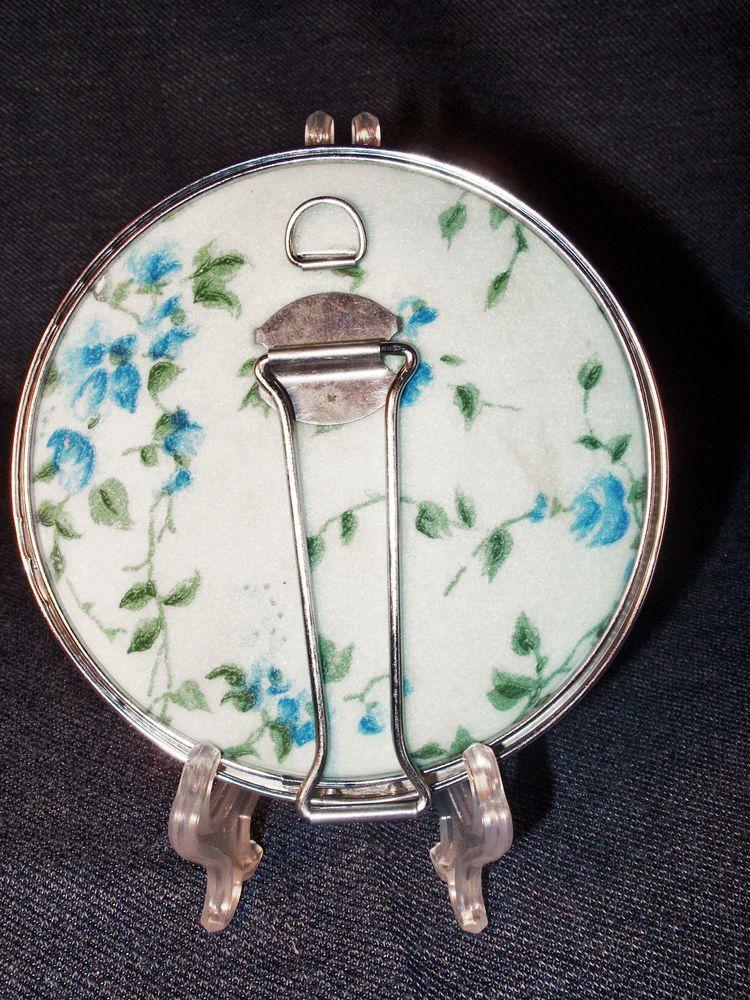 Vintage Regular & Magnifying Folding Travel Mirror w/ Hook