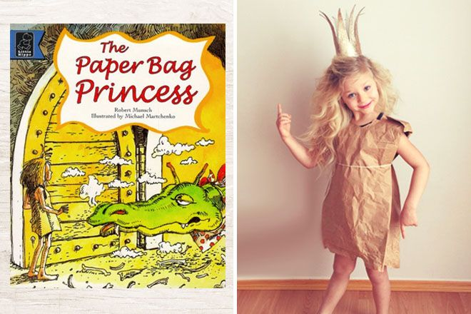10 classic Book Week Costumes, The Paper Bag Princess | Mum's Grapevine #bookweek #bookweekcostumes #costumes #fancydress #dressups #paperbagprincess #paperbagprincesscostume