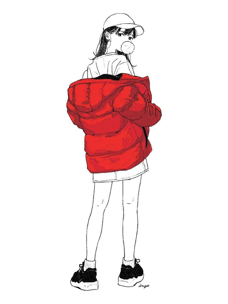 Looking Back Streetmoe Anime Characters Back Drawing Anime