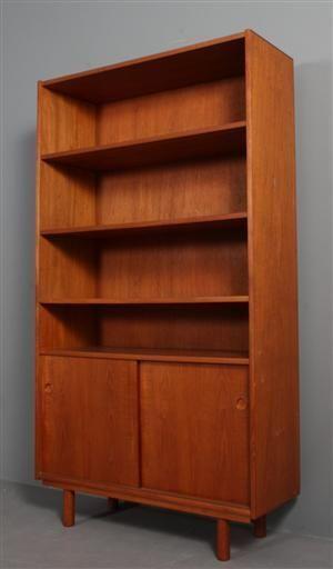 Danish Modern Teak Bookcase Mid Century Modern Ebay Midcentury