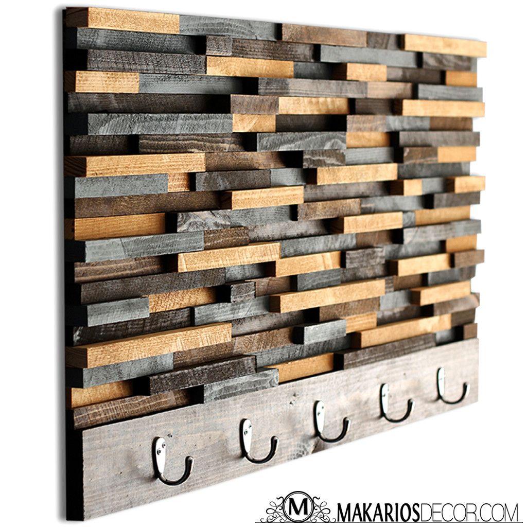 Wood Tile Coat Rack | Racks | Wooden coat rack, Rustic ...