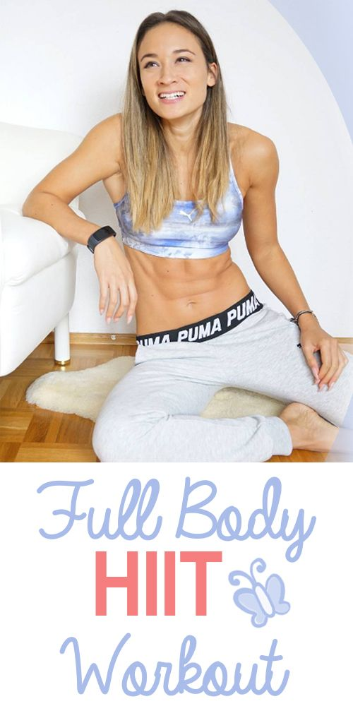 Full Body HIIT Home Workout - Bauch Beine Po und Oberkörper in einem ...