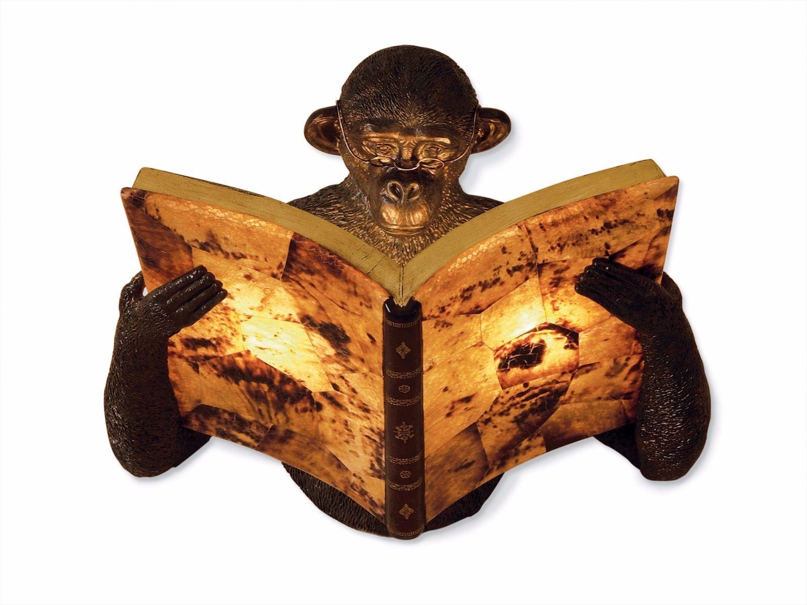 Maitland Smith 1943 130 Monkey Reading Book Wall Sconce