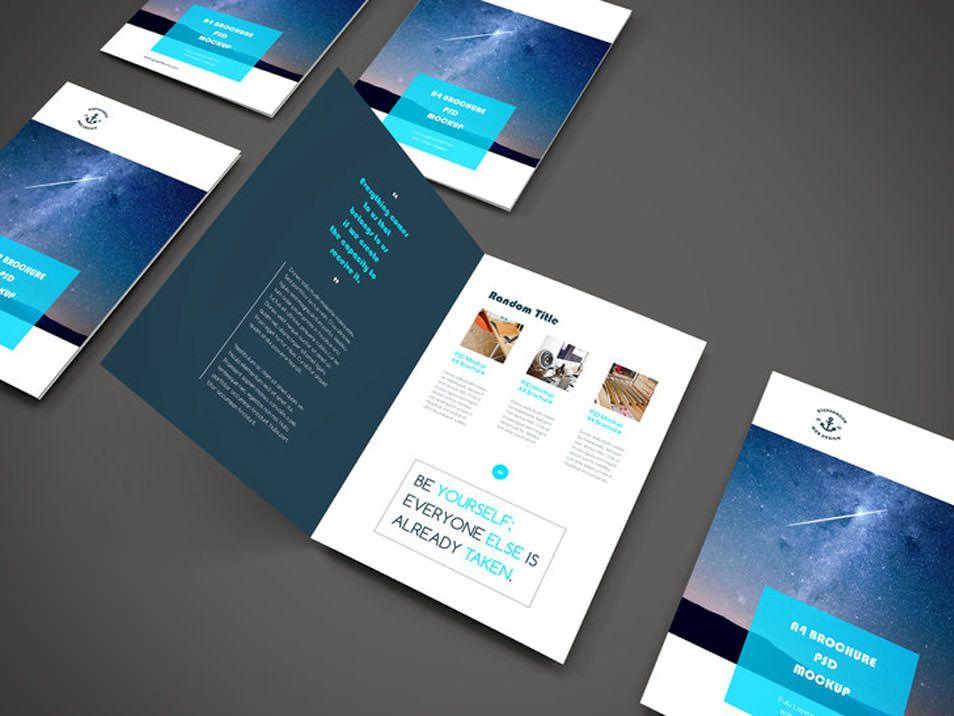 A Brochure Psd Mockup  Mockups Templates    Mockup