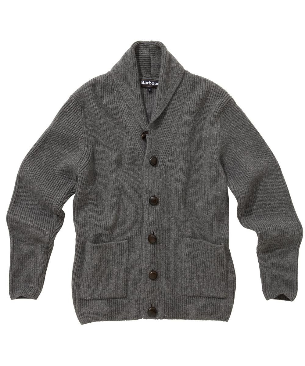 af5cd3d0 Mens Barbour Clifton Chunky Shawl Lambswool Cardigan | Barbour's Dedicated  Online Shop for Barbour Clothing
