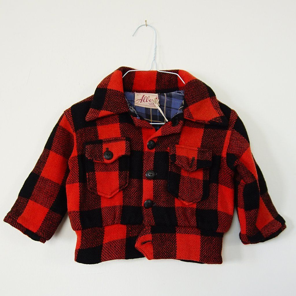 Flannel jacket with fur inside  Vintage Buffalo Plaid Jacket  Plaid jacket Buffalo plaid and Products