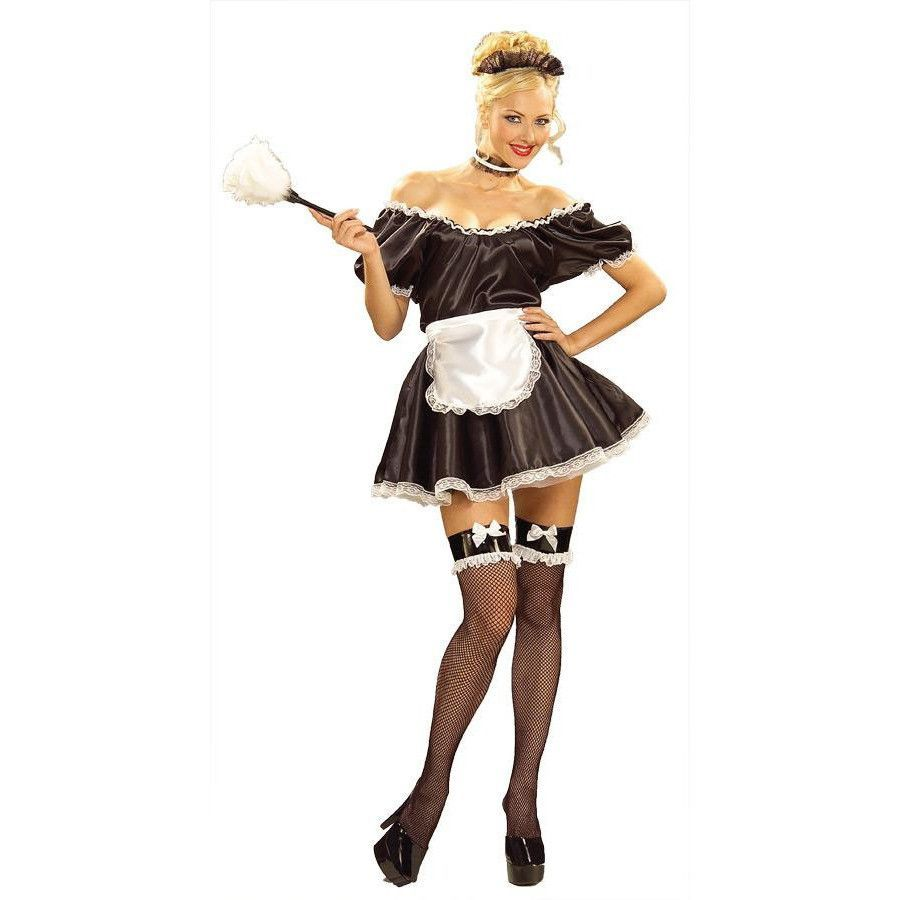White apron lace trim - Fifi The French Maid