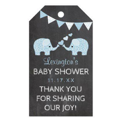 Twin boys blue elephants baby shower thank you gift tags baby twin boys blue elephants baby shower thank you gift tags baby gifts child new born negle Gallery