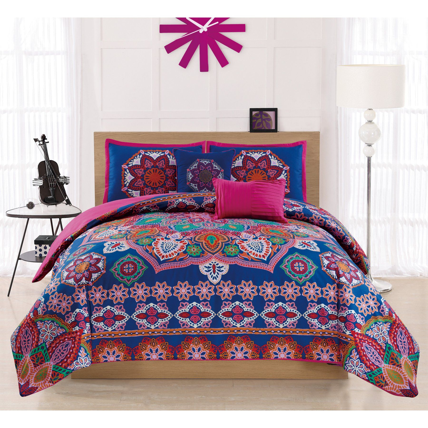 Harmony 5 Piece Embroidered Comforter Set By Rt Designers Collection