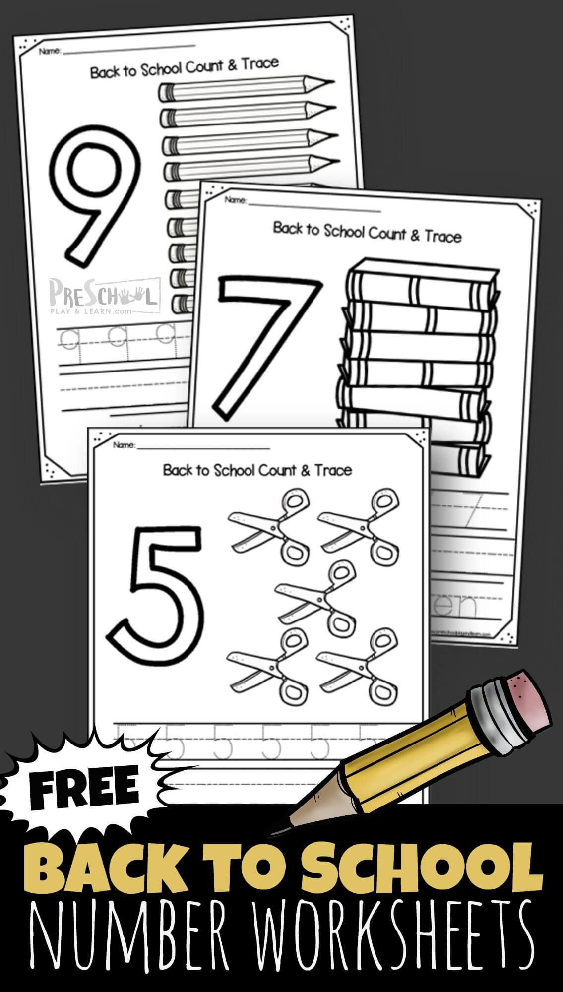 Back To School Number Worksheets