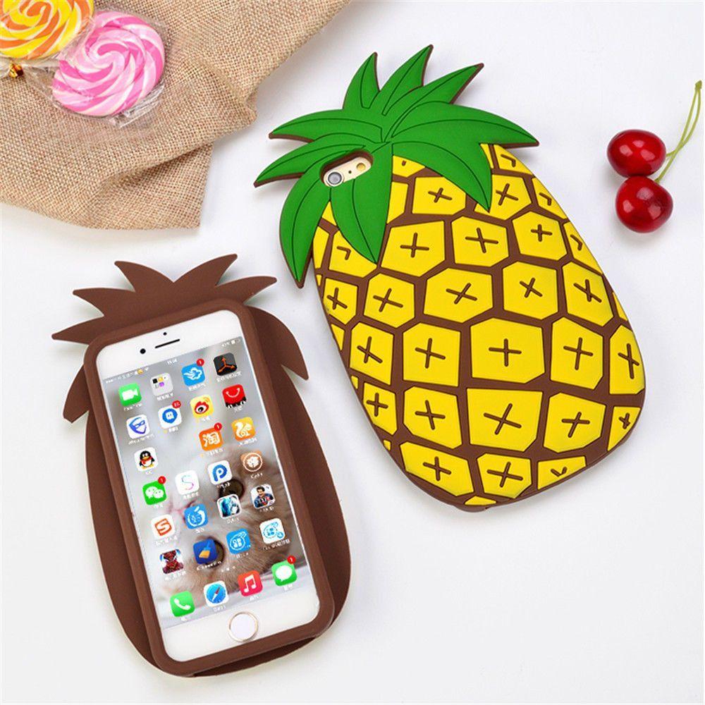 iPhone 3D Pineapple Cactus Cartoon Cases Food iphone