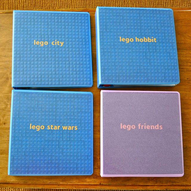 Use binders to organize Lego instructions!