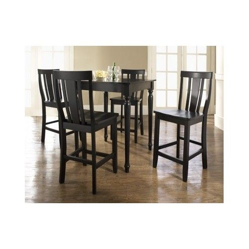 Cheap Pub Table And Chairs: 5 Piece Dining Set Counter Height Modern Bar Table Chair