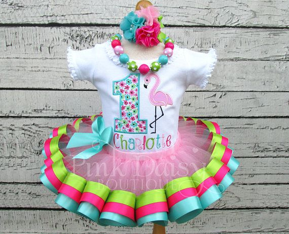 Flamingo Birthday Outfit Flamingo Tutu Set Flamingo First Etsy Birthday Outfit Flamingo Birthday Birthday Girl Outfit