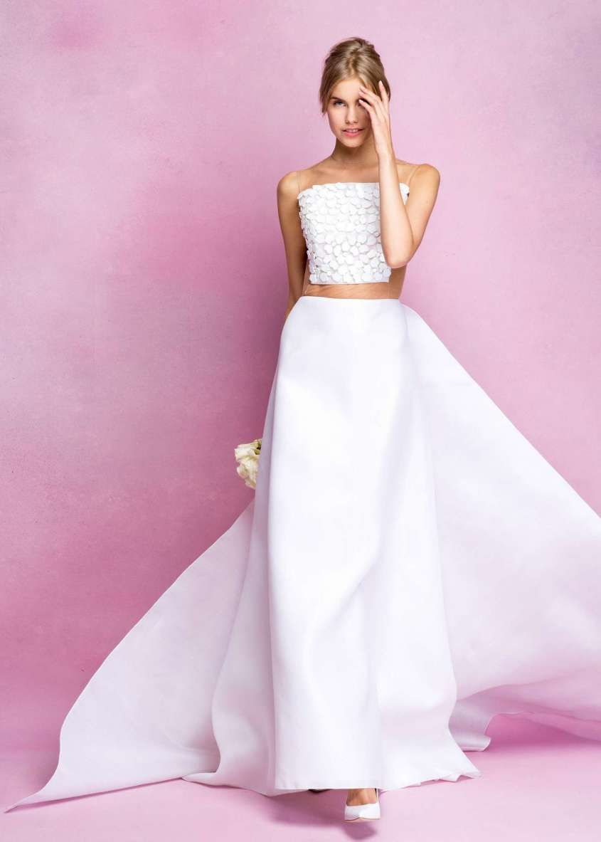 Abiti da sposa Angel Sanchez collezione 2017 - Gonna e crop top da ...