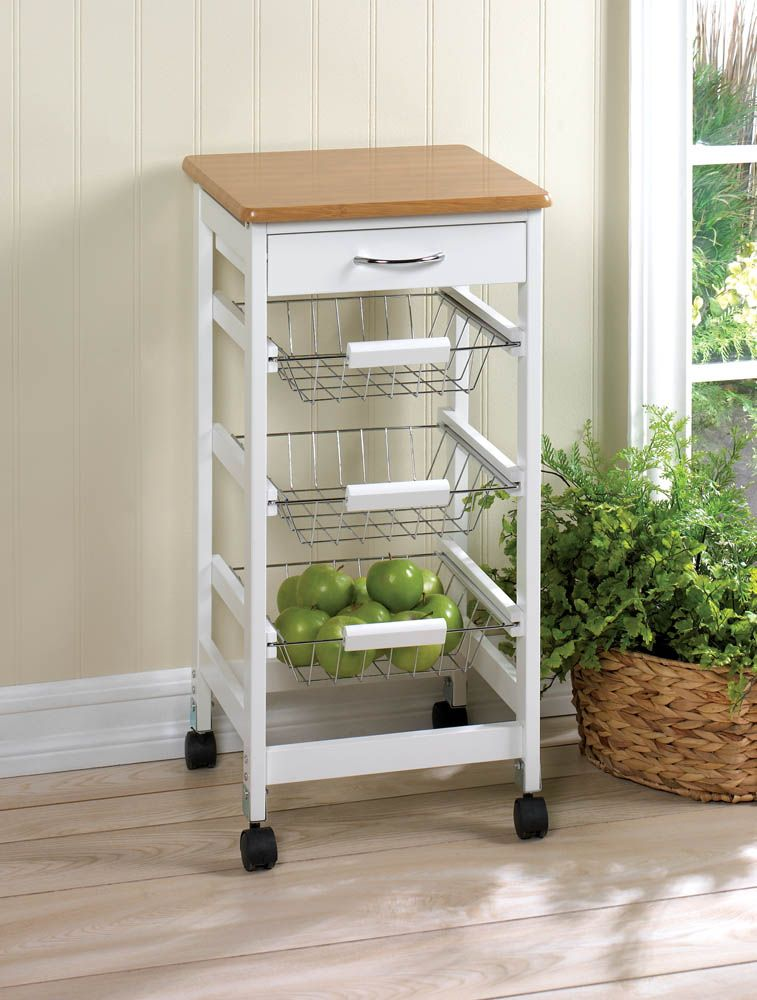 This Is The Perfect Kitchen Trolley, Featuring Three Slide Out Storage  Baskets That Are