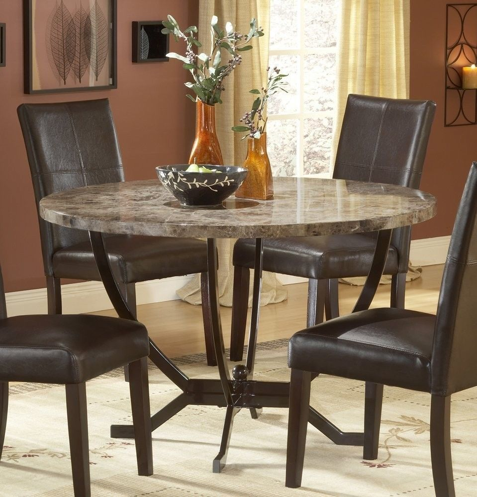 Image Of Granite Dining Table Set Flooding The Dining Room With Elegance
