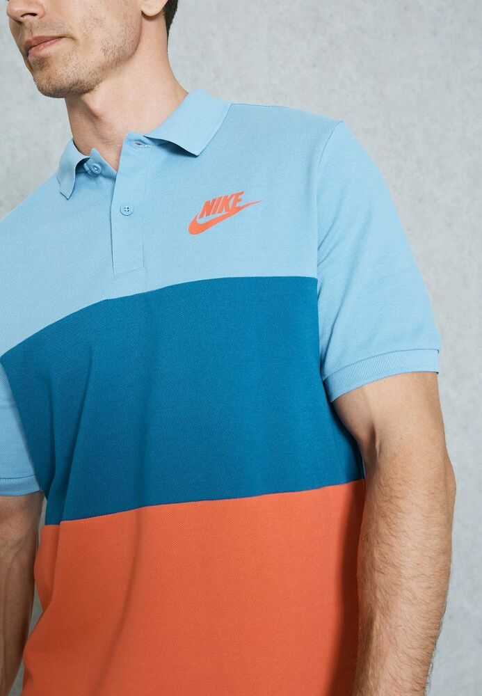 c169f40e0d7 Nike mens colorblock pique polo light royal blue coral red button up tee  nike jpg 693x1000