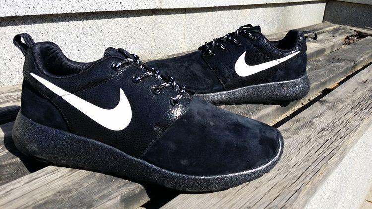 a76fc5dc65e  esty  shoes Black White Black Nike Roshe Run Star Diamond Mens 511881 110