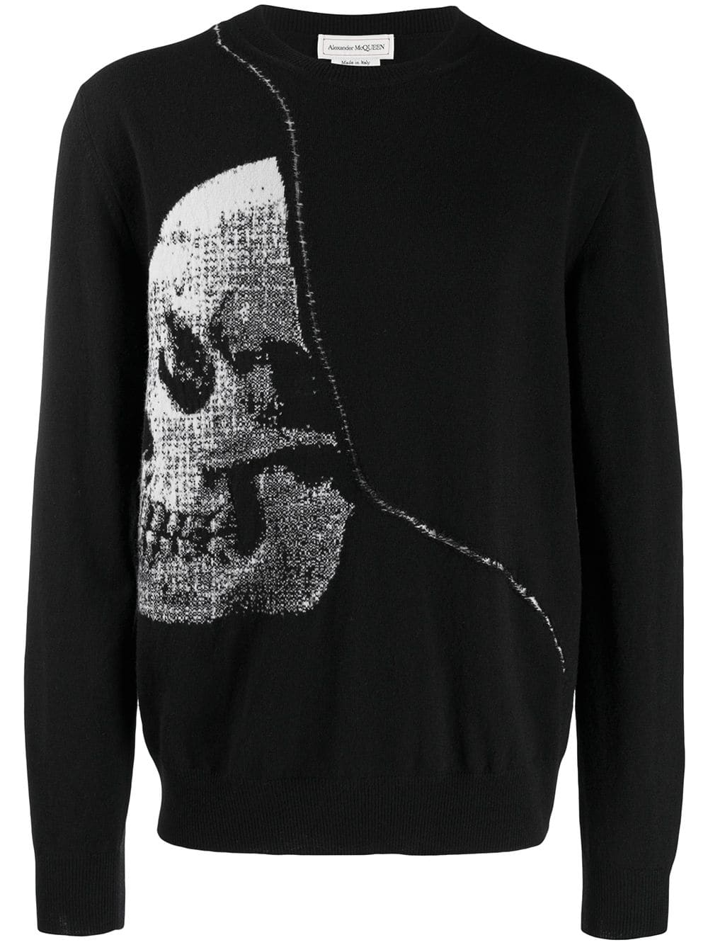 Alexander Mcqueen Skull Intarsia Black