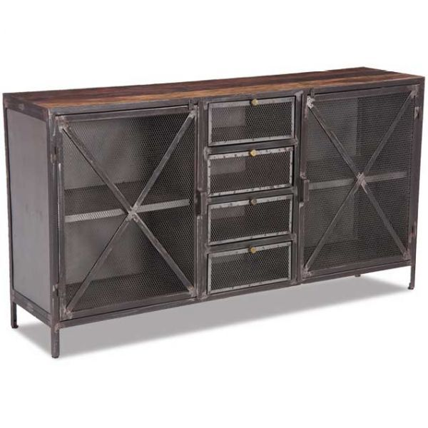 industrial metal storage cabinet dining room pinterest vintage industrial industrial and. Black Bedroom Furniture Sets. Home Design Ideas