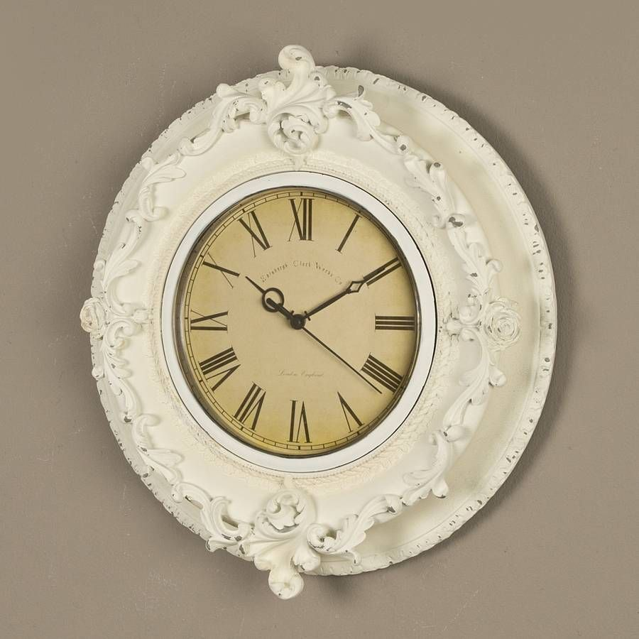 Decorative French White Clock | White clocks, Clocks and Bedrooms