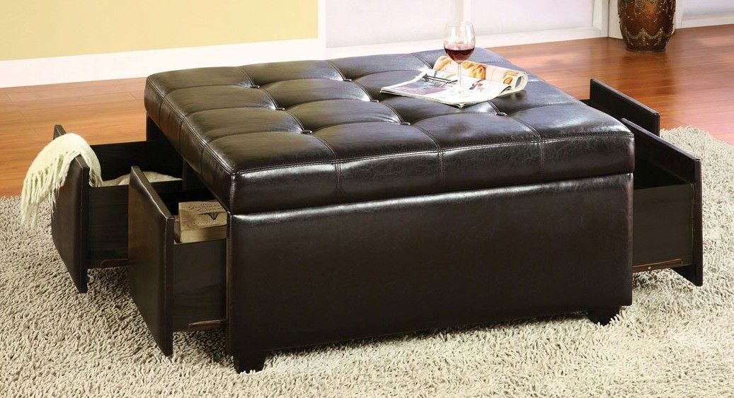 Buy Furniture of America CMBN6381 Petula Storage Ottoman with 4