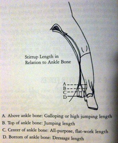 Proper stirrup length