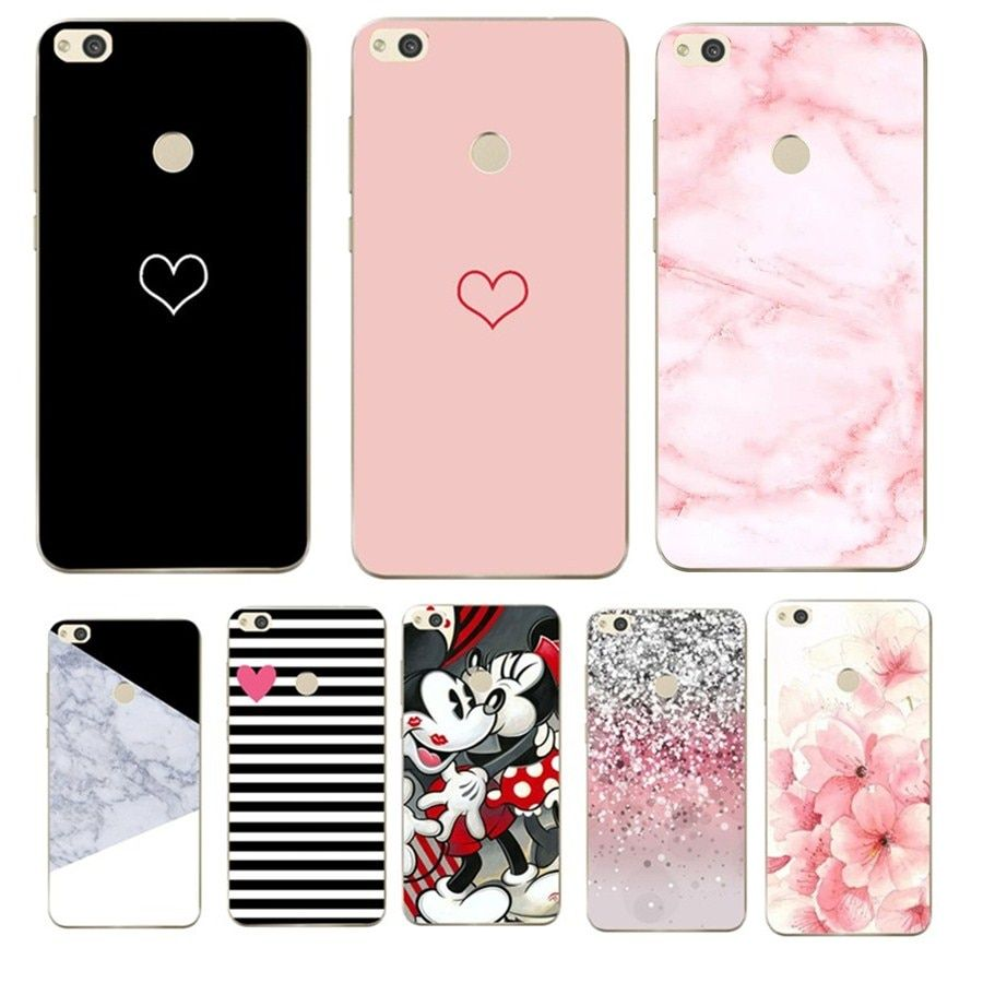 lowest price 63c51 dc526 Love Heart Soft Silicone Case For Huawei P Smart Enjoy 7S nel 2019 ...
