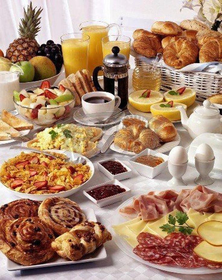 Bed And Breakfast Fruhstucksbuffet Buffet Essen Essen