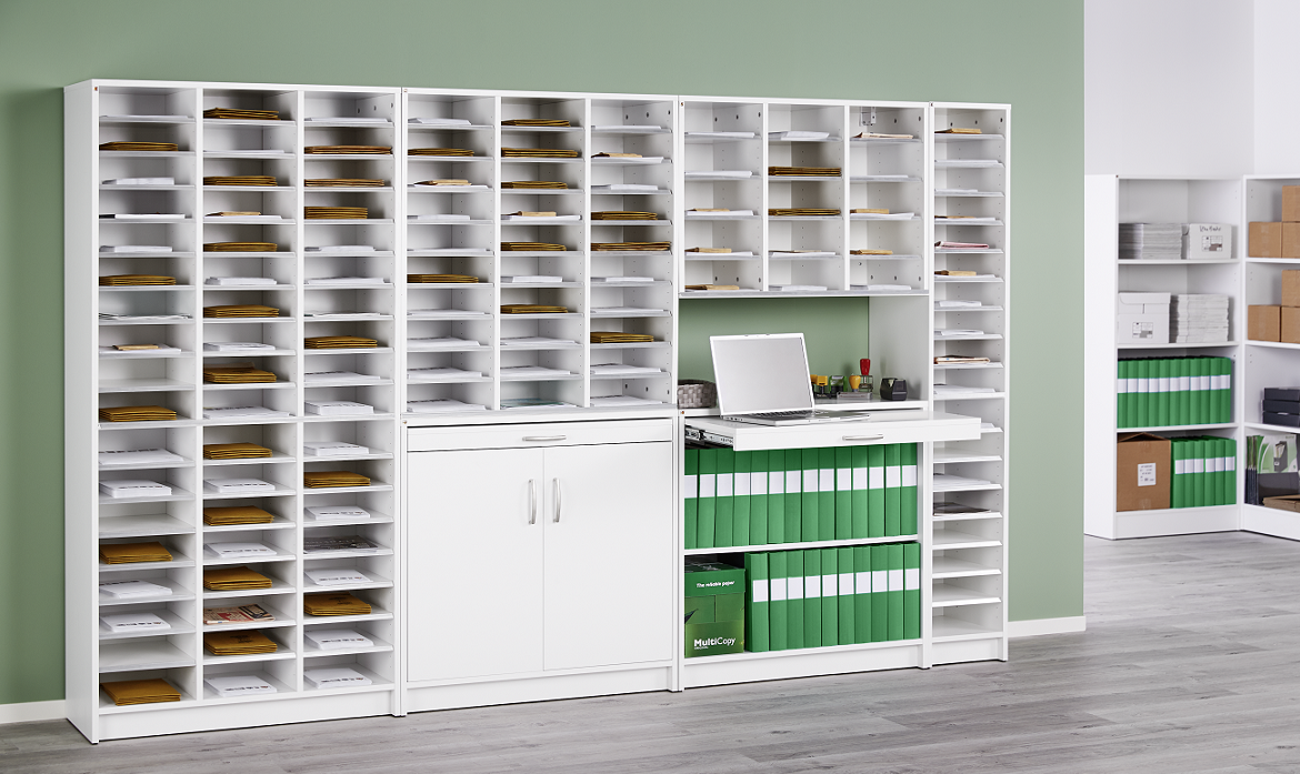 Pigeon hole storage come in different sizes and choice of