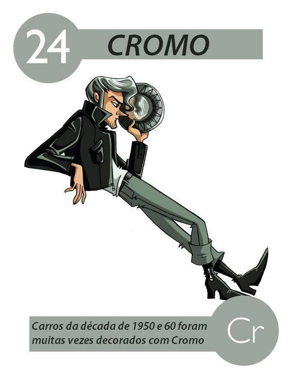 É encontrado na natureza na forma de cromita, um óxido duplo de - new tabla periodica el xenon