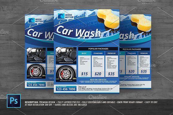Car Wash Flyer V  Car Wash And Cars